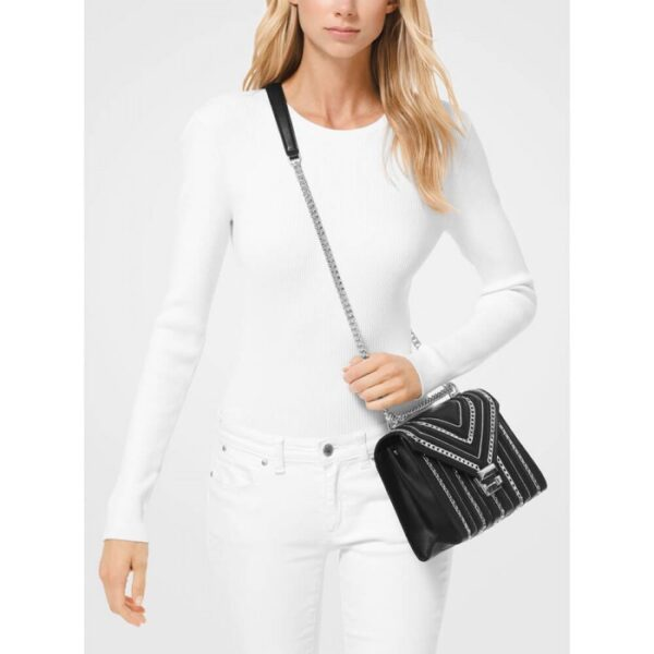 СУМКА WHITNEY LARGE CHAIN-LINK QUILTED LEATHER CONVERTIBLE